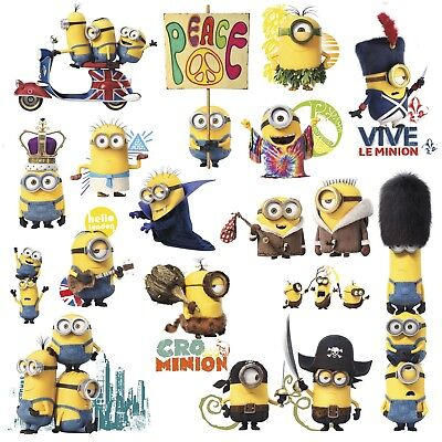 Minion Wall Decals (MINIONS MOVIE 16 BiG Wall Decals Despicable Me Room Decor Stickers)