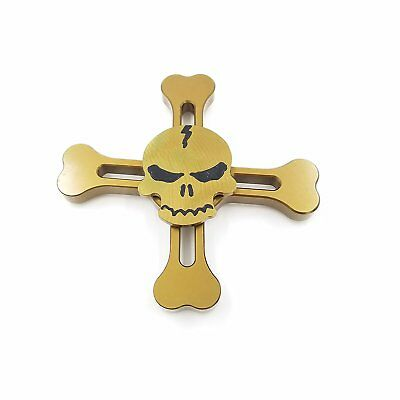 Fidget Spinner Multi color Skull  Hand Finger Toy Anxiety Autism halloween Gift