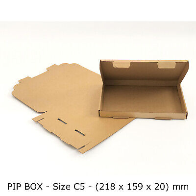50 PiP Royal Mail Boxes For Large Letters C5 Size Card board Postal Mailer