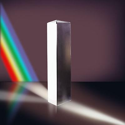 7.8 20cm Optical Glass Triple Triangular Prism Physics Teaching Light Spectrum