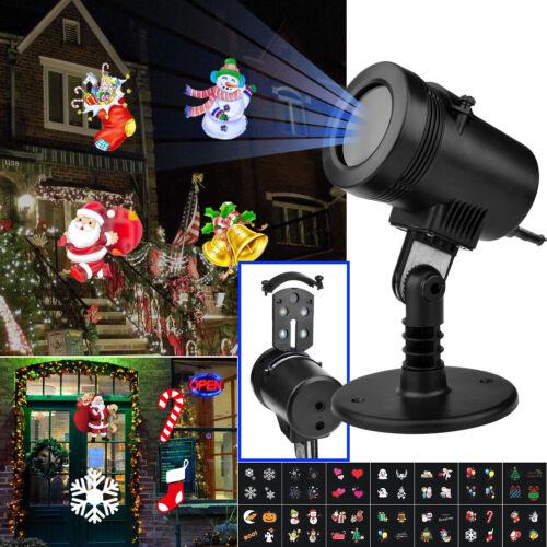 LED Laser Licht Projektor Weihnachtsdekoration Weihnachtsbeleuchtung Garten Xmas