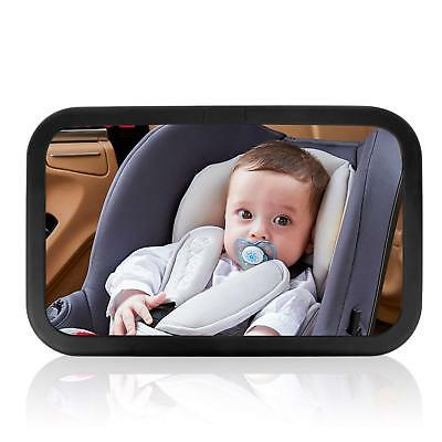 Baby Car Mirror for Rear Facing Child Seats Adjustable Straps Wide View Headrest