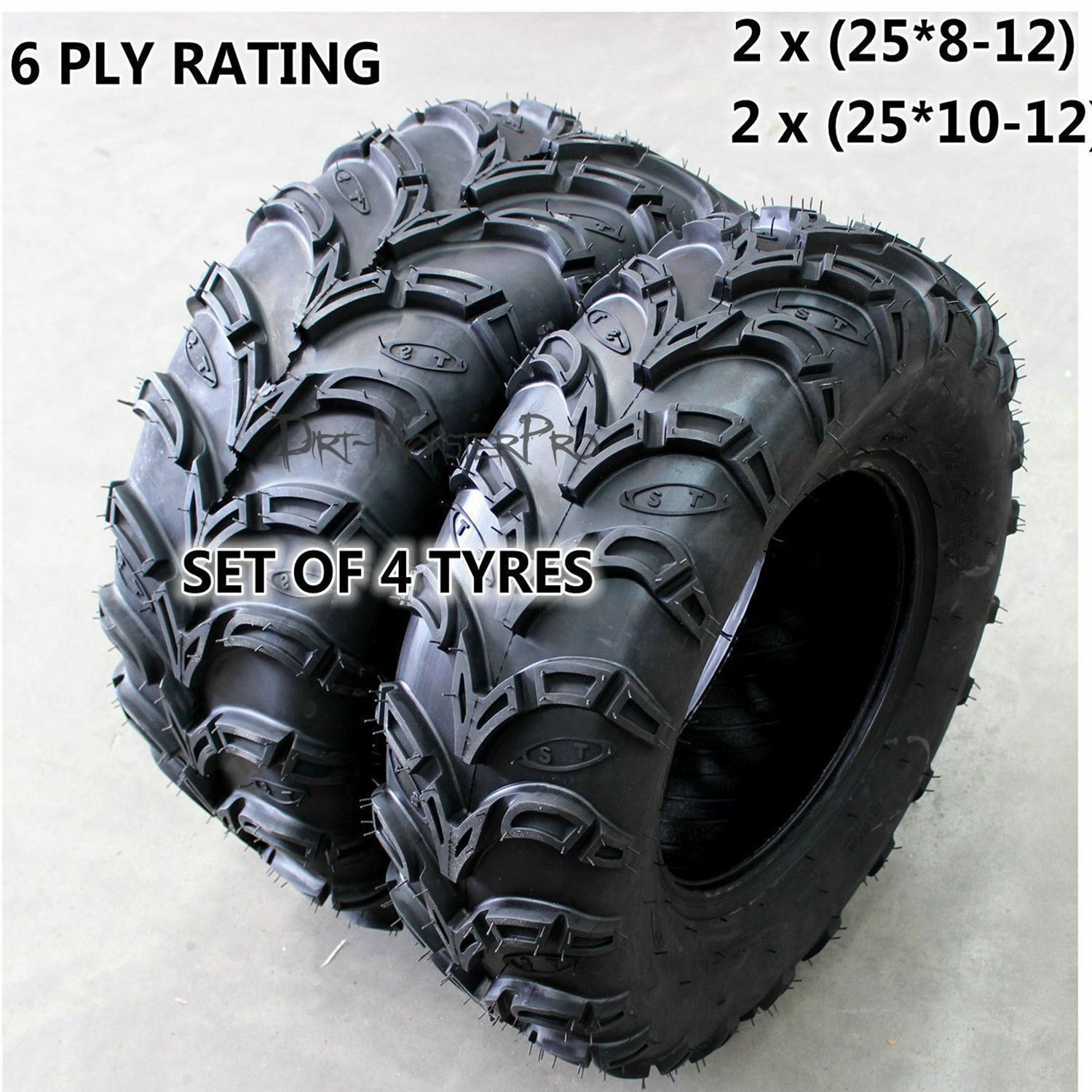6 ply 2 25x8 12 2 25x10 12 Tire Tyre Yamaha Grizzly 350 450 700