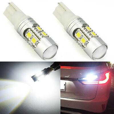 JDM ASTAR 2x 10-SMD 921 912 T10 T15 LED 6000K White Backup Reverse Lights Bulbs