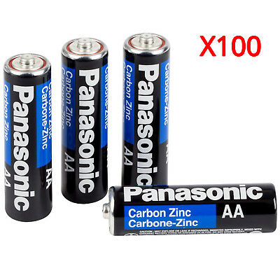 Wholesale 100 Panasonic AA Double A Batteries Heavy Duty Battery 1.5v Bulk Pack