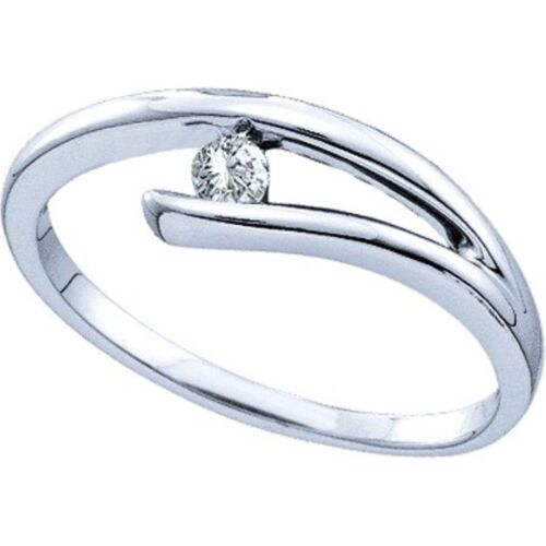 0.20 Cts Round Brilliant Cut Diamond Solitaire Ring In Solid Hallmark 14k Gold