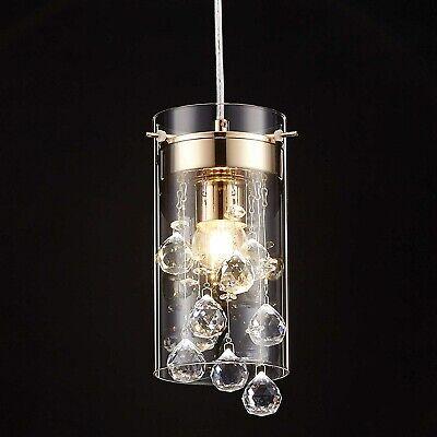 Crystal Pendant Hanging Light Fixture Glass Chandelier Mini Kitchen Island New