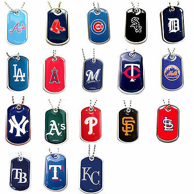 dog tag necklace MLB PICK YOUR TEAM not a cheap gumball machine tag - Cheap Gumball Machine