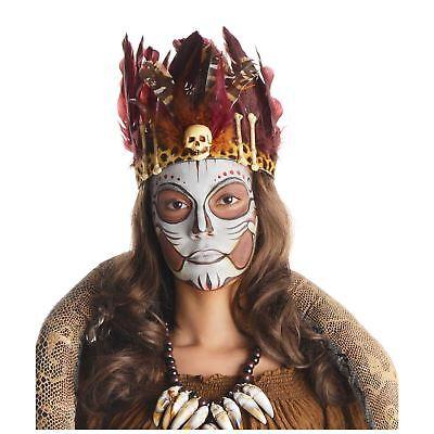 Witch Doctor Feather Headband Voodoo Halloween Costume Accessories