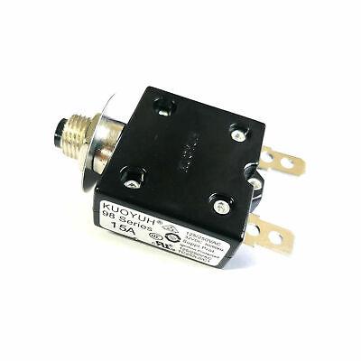 New 15 Amp Push Button Thermal Circuit Breaker 12-50v Dc 125-250v Volt Ac