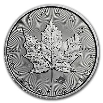2018 Platinum 1 oz Canadian Platinum Maple Leaf $50 Coin .9995 Fine Platinum