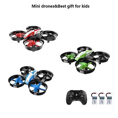 Holy Stone Mini drone HS210 Auto Hover 3D Flip 3 Battery RC Quadcopter for kids