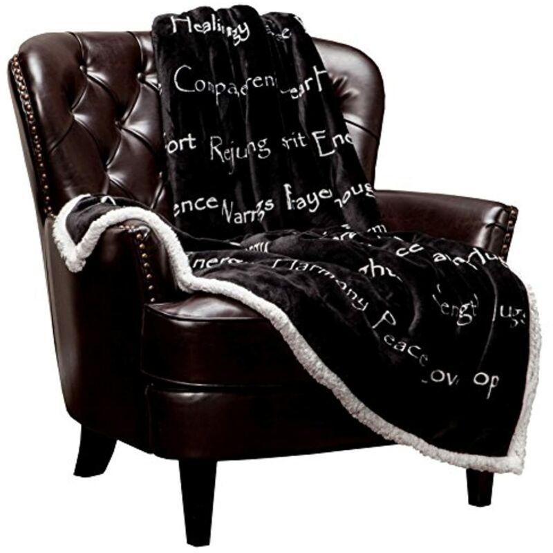 Chanasya Healing Compassion Warm Hugs Gift Throw Blanket Black