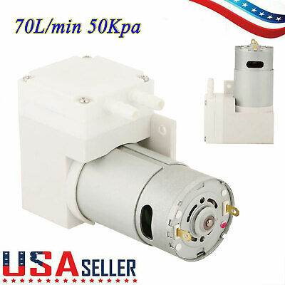 12v Dc Noiseless Mini Vacuum Pump Negative Pressure Suction Pump 70lmin 50kpa