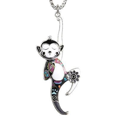 (Unique Monkey Charm Necklace for Women Girls Birthday Gifts)