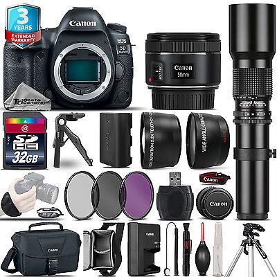 Canon EOS 5D Mark IV Camera + 50mm + 500mm - 4 Lens Kit + 32GB + 2yr Agreement