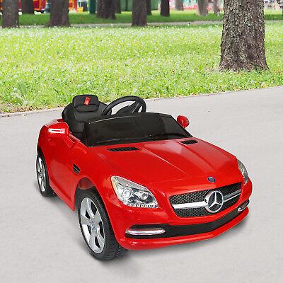 Coche Eléctrico Bateria 6V para Niños Mercedes Benz Rojo con Control Remoto MP3