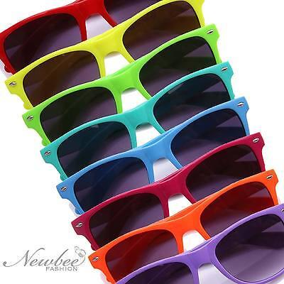 Neon Plastic Sunglasses (Horn Rimmed Sunglasses Vintage Neon Frame Several)