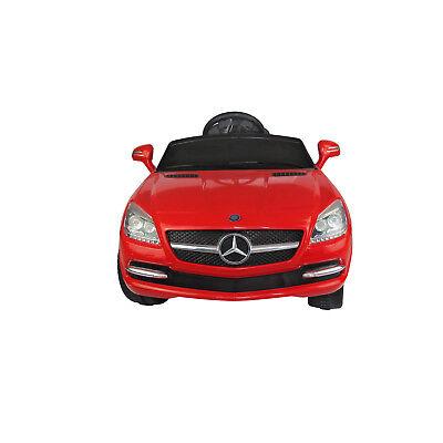 HOMCOM Coche Eléctrico Mercedes Benz para Niño Batería 6V Control Remoto MP3 Luz