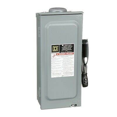 Square D H361nrb Safety Switch Heavy Duty Fusible 30a 600v 3p Nema 3r