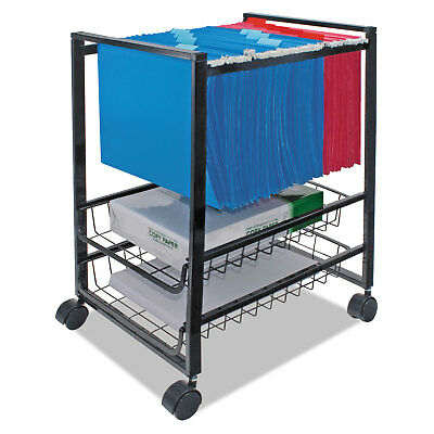 Advantus Mobile File Cart w/Sliding Baskets 12 7/8w x 15d x 21 1/8h Black 34075