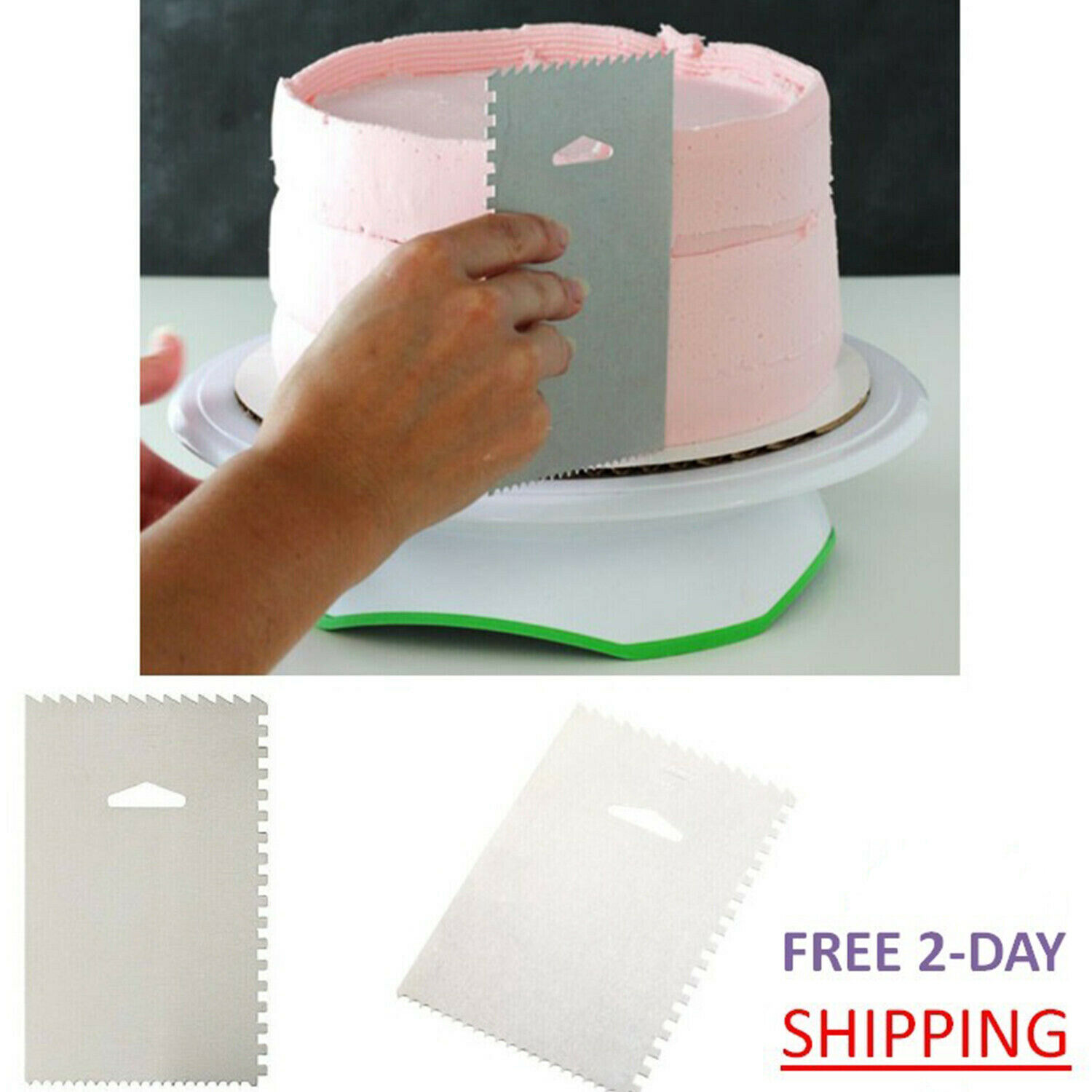 Cake Decorating Comb Aluminum Icing Smoother Edge Frosting T
