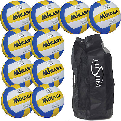 Mikasa MGV230 Lightweight Volleyball 10 Ball pack with a Breathable 10 Ball Bag