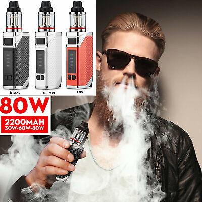 Vape Pen E cig Starter kit Electronic Cigarette 80W Vaporizer 2200mah Mod Smoke