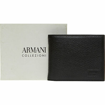ARMANI COLLEZIONI Black Leather Bi-Fold Wallet. RRP. £225