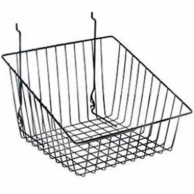 Only Hangers Black Tapered Slatwallgridwall Basket 12 X 12 X 8