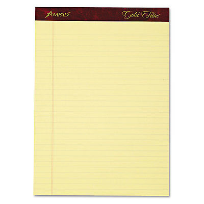 Ampad Gold Fibre Writing Pads Legalwide 8 12 X 11 34 Canary 50 Sheets 4pack