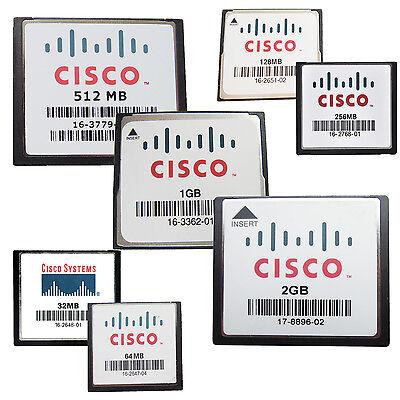 - CISCO CF 32MB 64MB 128MB 256MB 512MB 1GB 2GB CompactFlash CF Memory Card Genuine