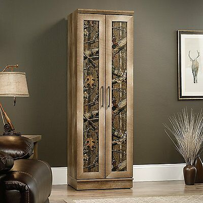 "خزانة جديد Sauder 70"" Tall East Canyon Storage Cabinet In Craftsman Oak Finish 416573 NEW"