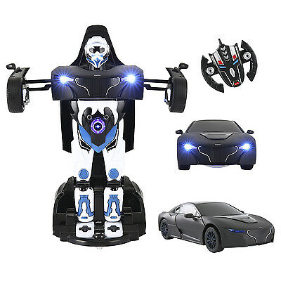 2.4G RC Radio Remote Control Car Transformer Deformation Robot Kid Children Toy