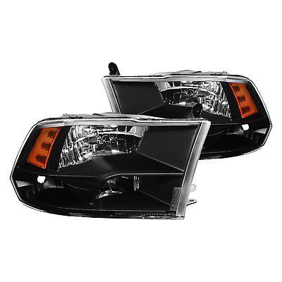 For Ram 1500 2011-2016 Lumen 87-1001607 Black Euro Headlights