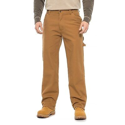 Cotton Lined Work Pants (New Men's Stanley Cotton Canvas Fleece Lined Carpenter Work/ Play)