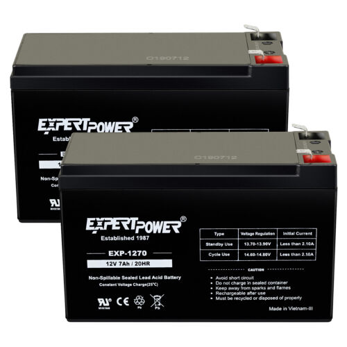 Expert Power 2 Pack- REPLACEMENT BATTERY. ENDURING 6-DW-7 12V 7AH UB1270