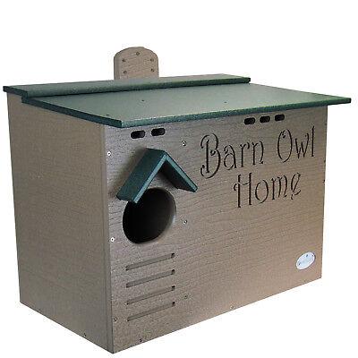 Barn Owl Poly Nest Box Large House Barn Owl Nesting Box