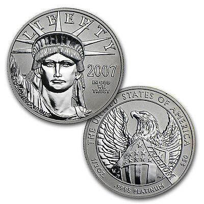 2007-W 2-Coin Proof Platinum Eagle Set (10th Anniv, Box & COA) - SKU #32963