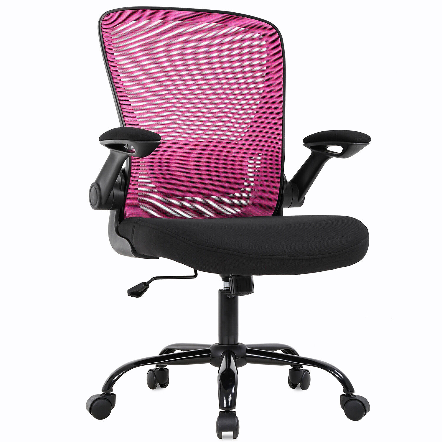 Home Office Chair Mid backAdjustable with Lumbar Support Arms Swivel Rolling Chairs
