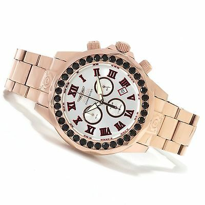 Invicta 14537 Mens Grand Diver Limited Swiss Blk Spinel Accent Rose Gold Watch