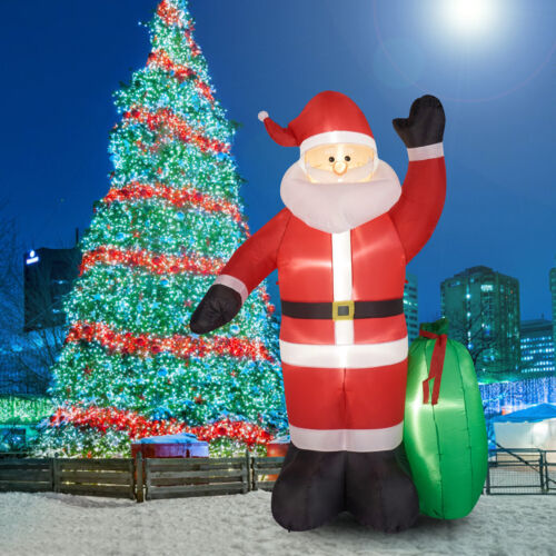 8Ft Christmas Inflatable Santa Claus W/ Gift Bag Air Blown Outdoor Yard Decor