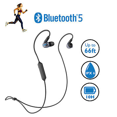 Best Wireless Bluetooth 5 Sports headphones gym workout exercise active
