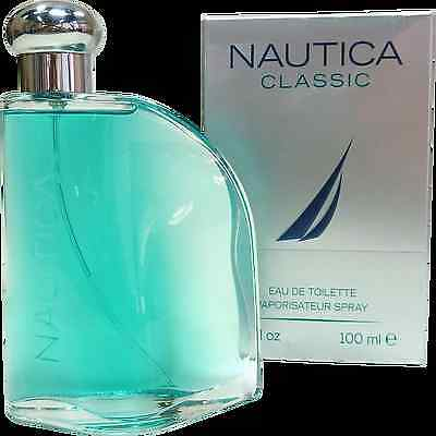 Nautica CLASSIC for Men COLOGNE 3.4 OZ 100 ML EDT Spray NEW IN SEALED BOX