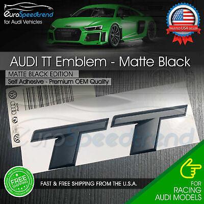 Audi TT Matte Black Emblem 3D Rear Trunk Badge OEM Tail Lid S Line Logo 2016 +