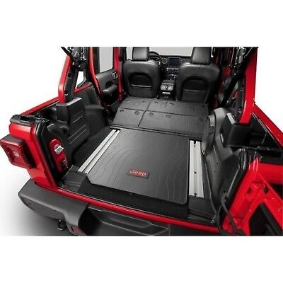 Molded Cargo Area Tray - Jeep Wrangler 82215185AC Molded Cargo Area Tray - Leather Trim Only - Without...