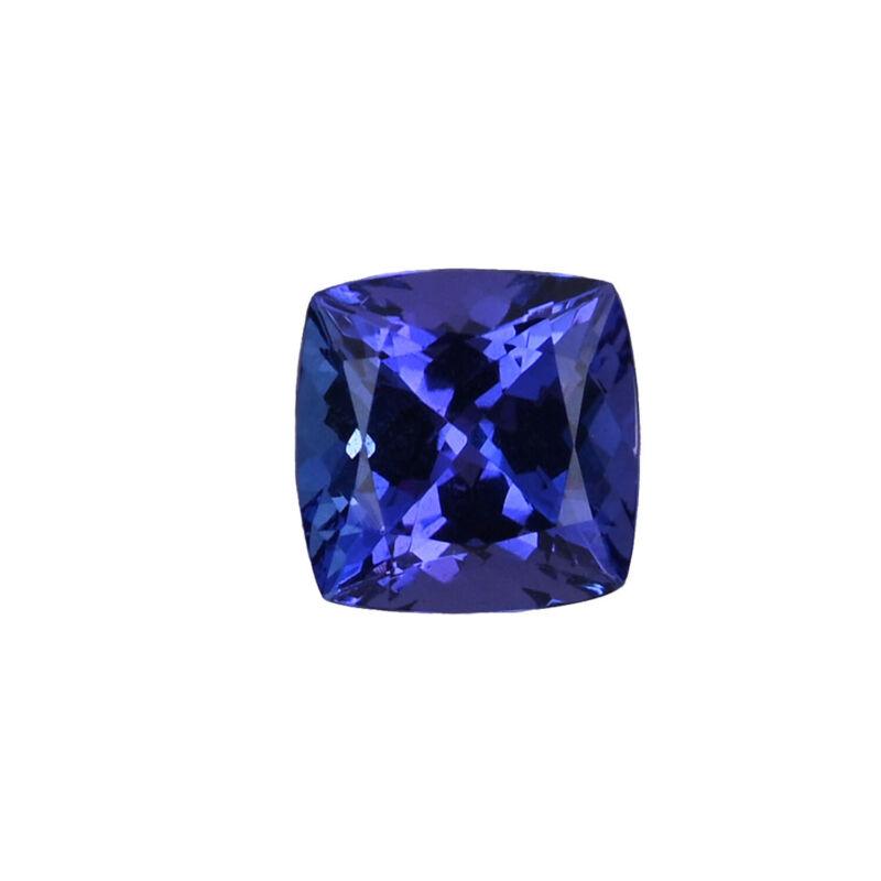 AAAA Blue Tanzanite Cushion Shape Loose Gemstone for Jewelry Making Ct 1.65