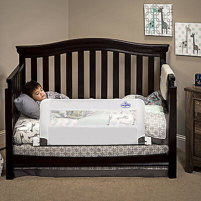 Convertible Crib Rail Toddler Baby Kids Bed Swing Down Safety 33 Inch Long