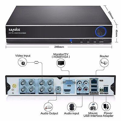 8 Kanal  H.264 1080N CCTV HDMI Sicherheit DVR Video Recorder Überwachungssystem