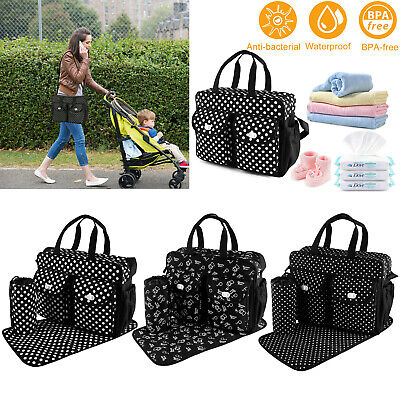 3pcs/set Larger Mummy Bag Baby Diaper Bag Mommy Nappy Changing Handbag Tote - Mummy Mommy